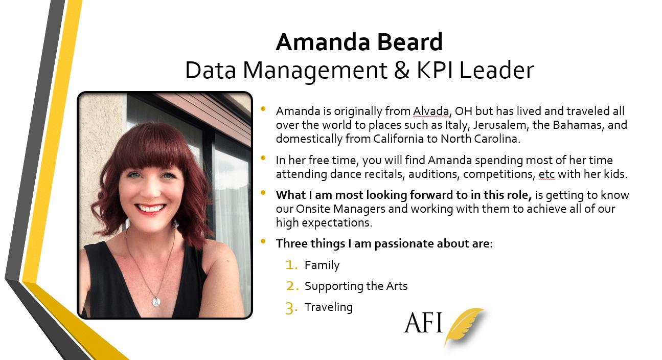 Welcome Aboard, Amanda!