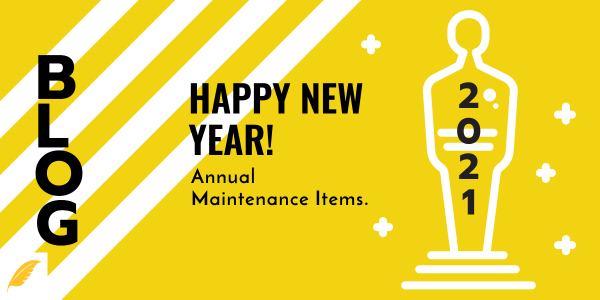 New Year = New Annual Maintenance!