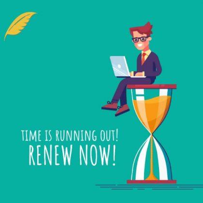 Do Not Wait – Renew Now!